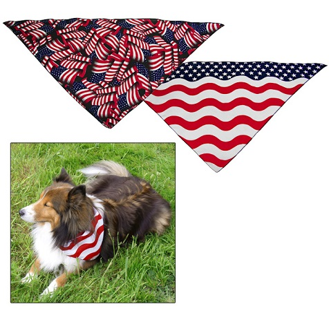 American Flag Red White And Blue Dog Bandana