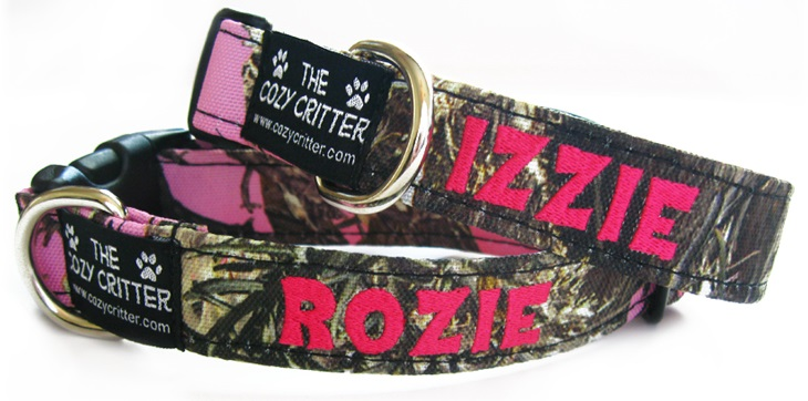 Camo Personalized Embroidered Dog Collars