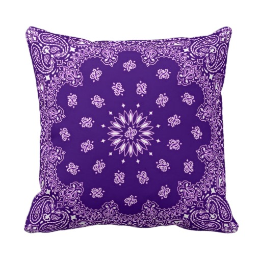 Cotton Purple Bandana Fabric