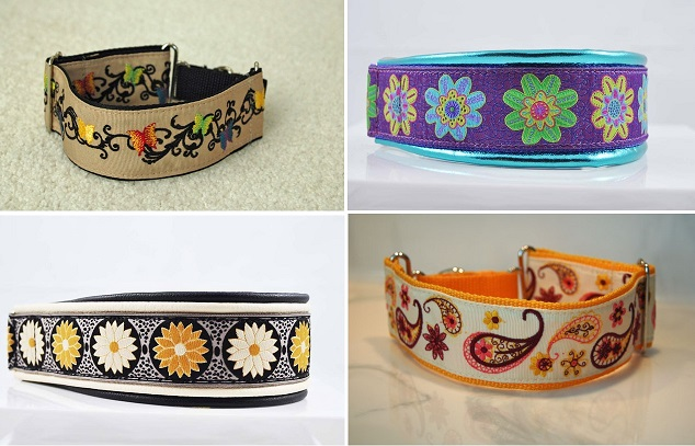 Creative Embroidered Leather Dog Collars Design