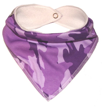 Cute Purple Camouflage Bandana for Small Dogs