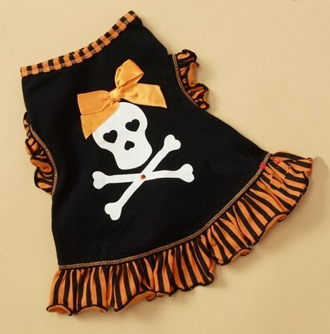 Cute Skull Girls Dog Clothes