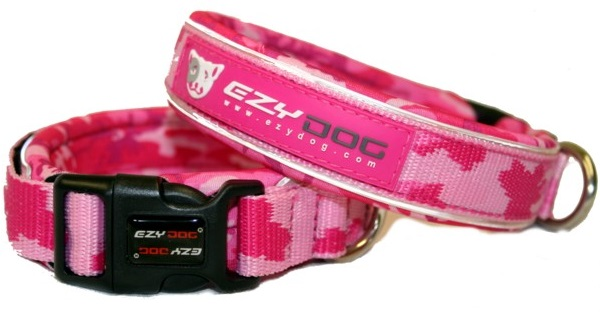 Ezy Dog Pink Camo Dog Collars
