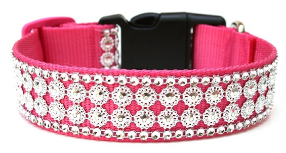 Fashion Dogs Pink Leather Dog Collars
