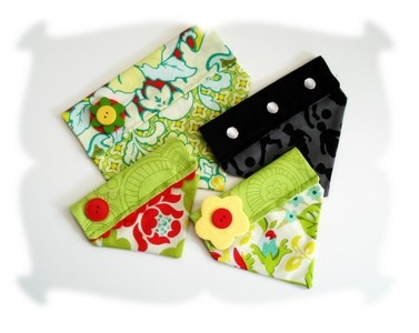 Floral Lime Green Bandana