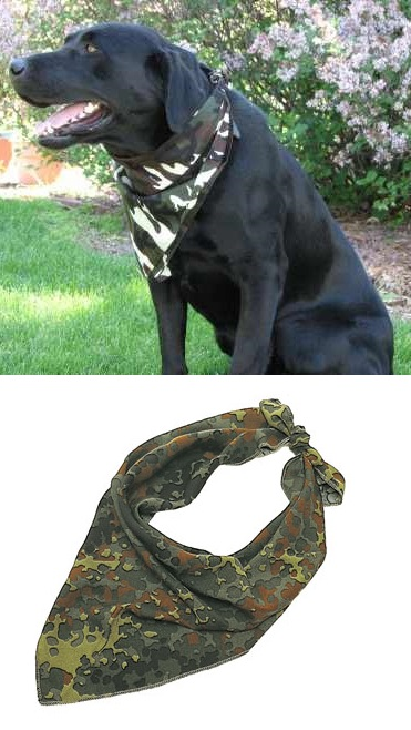 Green Camouflage Dog Bandana