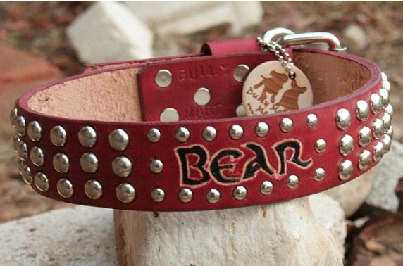 High Quality Studded Leather Dog Collars
