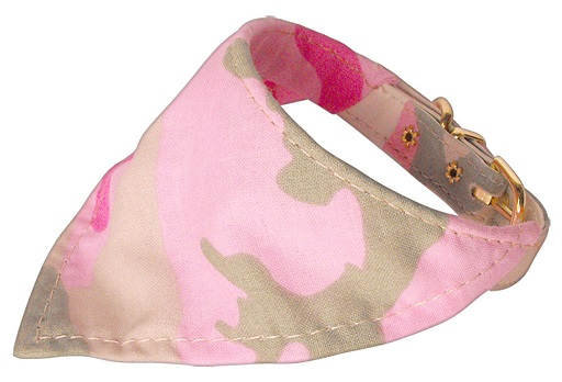 Lovely Pink Camouflage Dog Bandana