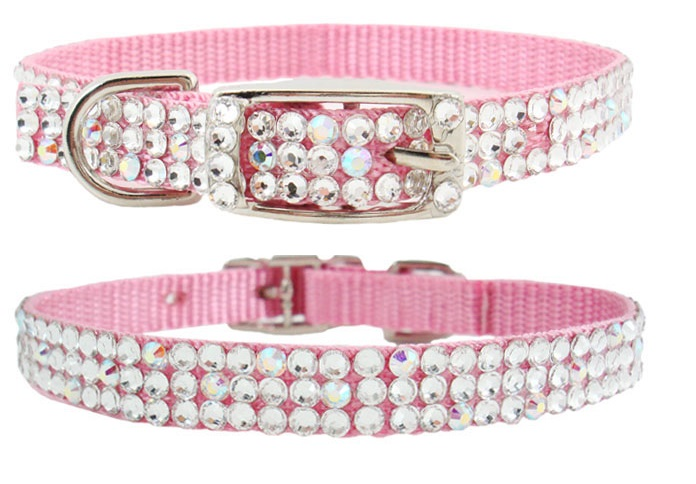 Shop for Pink Dog Collars With Rhinestone