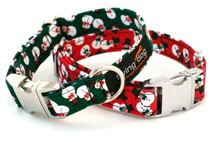 Frosty Christmas Dog Collars