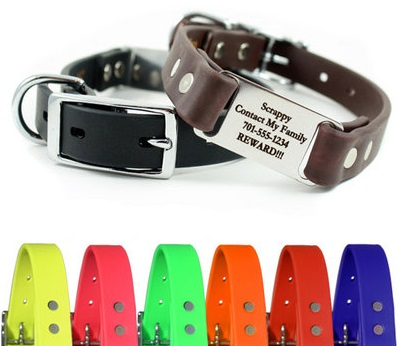 Quality Personalized Reflective Dog Collars