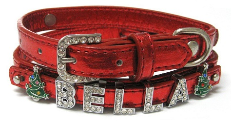 Red Christmas Holiday Dog Collars